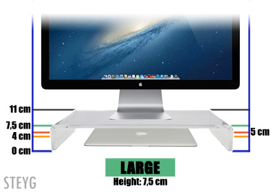 STEYG iMac monitor stand Large